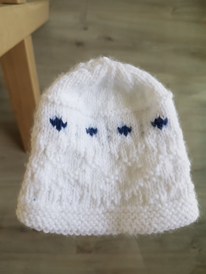 Madame Anne-So Tricot bonnet bébé jacquard