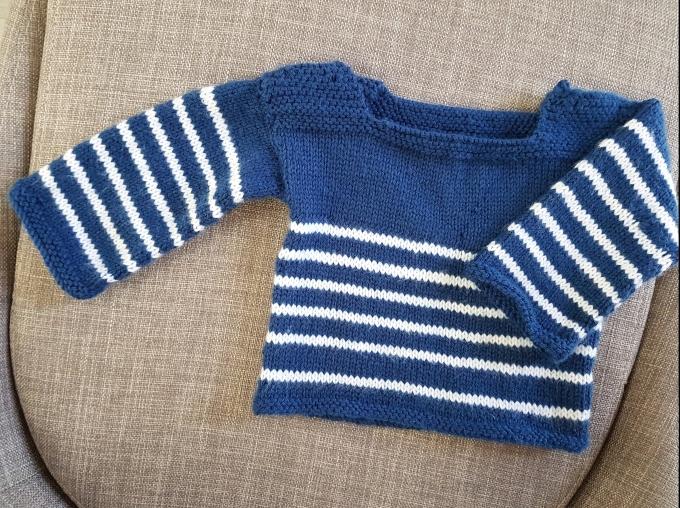 Madame Anne So tricot marinière