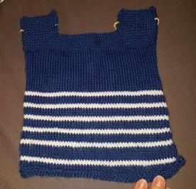 Madame Anne So tricot marinière avant