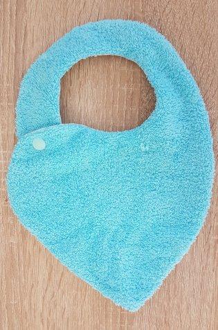 Madame AnneSo_Bavoir bandana pour bébé côté face bleu