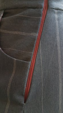Madame Anne-So_Jupe Double poches détail zip