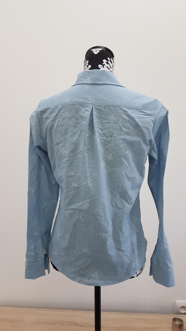 Madame Anne So_Chemisier Septembre bleu clair origami (1)