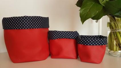 Madame Anne So_Lot de 3 panières rouges et bleues 3