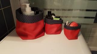 Madame Anne So_Lot de 3 panières rouges et bleues SCENE