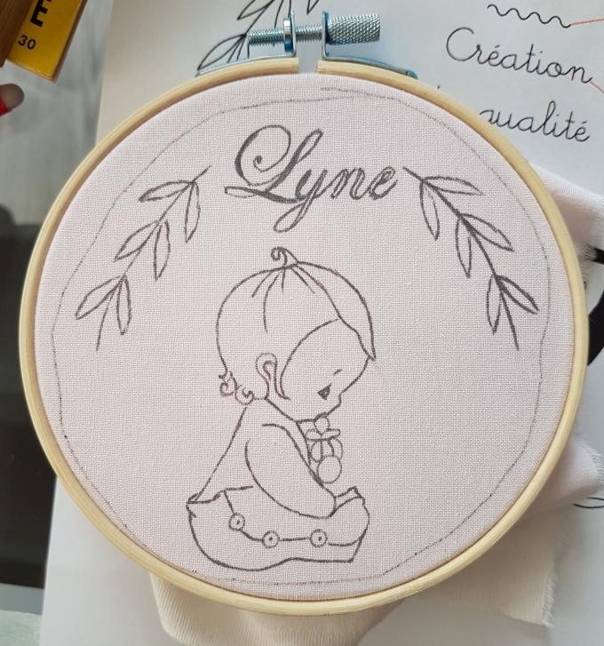Madame Anne So_Broderie Lyne préparation